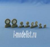 NS48018 North Star 1/48 Bf.109 B/C/E (early) wheels set. (
