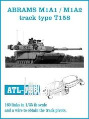 ATL-35-155 Friulmodel 1/35 Траки железные для ABRAMS M1A1 / M1A2 track type T158