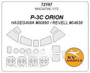 72197 KV Models 1/72 Набор окрасочных масок для P-3C