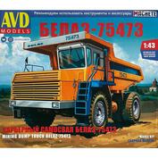 1509AVD AVD Models 1/43 Карьерный самосвал БЕЛАЗ-75473