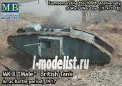 72005 MasterBox 1/72 MK II Male British Tank, Arras Battle period, 1917