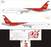 772-002 Ascensio 1/144 Декаль для boein 777-200 (Nrd wind Arlines)
