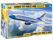7027 Звезда 1/144 Пассажирский авиалайнер Боинг 737-700 С-40B
