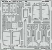481006 Eduard 1/48 Набор фототравления Bf 109G-10 Erla