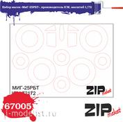 67005 ZIPmaket 1/72 Набор масок «МuГ-25РБТ», производитель ICM