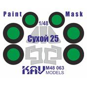 M48 063 KAV Models 1/48 Окрасочная маска на Сухой-25 (Smer/Моделист)