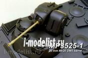 3525 Model Point 1/35 20 mm Mk20 DM5 barrel without flash suppressor.