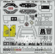 49966 Eduard photo etched parts for 1/48 TBD-1 interior