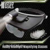 2385 Green Stuff World Лупа налобная / Light Head Magnifying Glasses