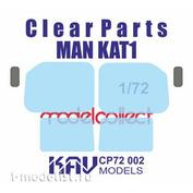 CP72 002 KAV Models 1/72 Остекление для MAN KAT1 (ModelCollect)