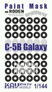 M144 014 KAV models 1/144 Окрасочная маска на C-5B Galaxy (Roden)