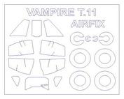 72535 KV Models 1/72 De Havilland Vampire T.11  + маски на диски и колеса