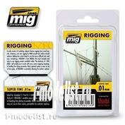 AMIG8016 Ammo Mig RIGGING – SUPER FINE 0.01 MM / Супер тонкая оснастка