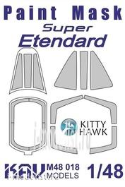 M48 018 KAV models 1/48 Окрасочная маска на остекление Super Etendard (Kitty Hawk)