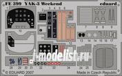 FE399 Eduard 1/48 Цветное фототравление для самолет Яковлев Як-3 Weekend