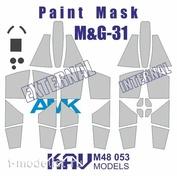 M48 053 KAV Models 1/48 Paint Mask for model MiGG-31