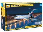 7004 Звезда 1/144 Российский авиалайнер ТУ-154М