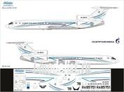 Т5М-008 Ascensio 1/144 Декаль на самолет тушка-154М (ГазПромАва New)