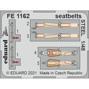 FE1162 Eduard 1/48 Фототравление для MiGG-15, ремни безопасности СТАЛЬНЫЕ