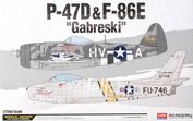 12530 Academy 1/72 Самолет P-47D & F-86E Gabreski