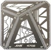 4702 JAS square ruler Set, 4 in 1