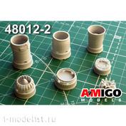AMG48012-2 Amigo Models 1/48 МiGG-21СМ/МФ/ПД Реактивное сопло двигателя Р13-300