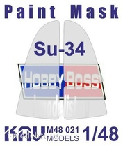 M48 021 KAV models 1/48 Окрасочная маска на остекление Суххой-34 (Hobby Boss)