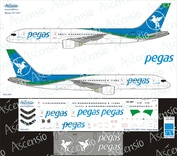 752-007 Ascensio 1/144 Scales the Decal on the plane Boeng 757-200 (Pegus)
