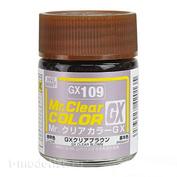 GX109 Gunze Sangyo Краска целлюлозная Mr.Hobby на растворителе, цвет Blown прозрачный, 18 мл.