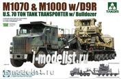 5002 Takom 1/72 U.S. M1070&M1000 w/D9R 70 Ton Tank Transporter w/Bulldozer