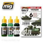 AMIG7135 Ammo of Mig VIETNAM colors Set COLORS SET (3 colors 17 ml.)