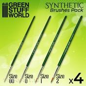 10192 Green Stuff World Набор синтетических кистей  SILVER