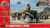 4701 Airfix 1/48 British Quad Bikes and Crew