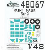 48067 SX-Art 1/72 Окрасочная маска для Суххой-2 (Звезда)