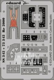 SS342 Eduard 1/72 Цветное фототравление для Re 2000 SA