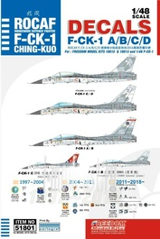 """51801 Freedom 1/48 DECAL 1997 ~ 2018 ROCAF F-CK-1 """"CHING-KUO"""" FIGHTER"""