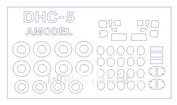 14499 KV Models 1/144 Набор окрасочных масок для остекления модели DHC-5 Buffalo/ C-8A/ CC-115