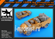 T35042 Black dog 1/35 German Steyr 1500Abig accessories set for Tamiya