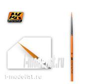 AK-602 AK Interactive Кисть синтетическая круглая ROUND BRUSH 2/0 SYNTHETIC