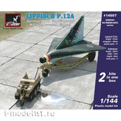 14507 Armory 1/144 Истребитель Lippisch P. 13a с легким полугусеничным тягачом (2 модели в коробке)