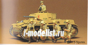 35009 Tamiya 1/35 Немецкий танк Pzkpw II Ausf F/G с пятью фигурами