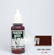 70307 Vallejo Краска акриловая `Panzer Aces` Красный стоп-сигнал / Red Tail Light