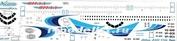 320-017 Ascensio 1/144 Декаль для airbu A320 (Ямал)
