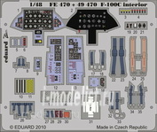 FE470 Edward 1/48 Color photo-etching for F-100C interior S. A.