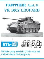 Atl-35-33 Friulmodel 1/35 Траки сборные железные для Panther Ausf. D / Vk 1602 Leopard