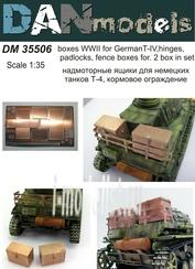 DM35506 DANmodel 1/35 Надмоторные ящики для немецких танков Т-4,петли, навесные замки,кормовое ограждение