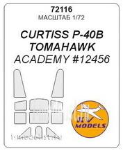 72116 KV Models 1/72 paint mask Set for P-40 B/C