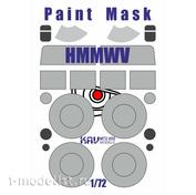 M72 055 KAV models 1/72 Окрасочная маска на HMMWV (T-Model)