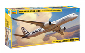 7020 Zvezda 1/144 Passenger Airbus A-350-1000 airliner