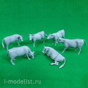 6003 СВмодель 1/35 Коровы, набор 6 шт.